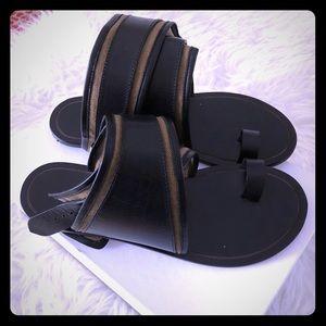 Isabel Marant 'Johen' Leather and Canvas Sandal